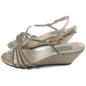 Touch Ups Shoes - TOUCH UPS Rhinestone Wedge Heel Sandals Size 7